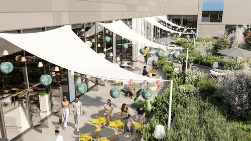 布達佩斯購物中心-Etele Plaza logo 內部
