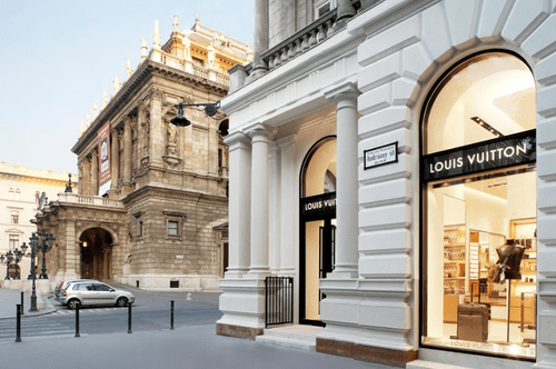 布達佩斯的安德拉什大街(Andrássy Street),國際品牌Louis Vuitton