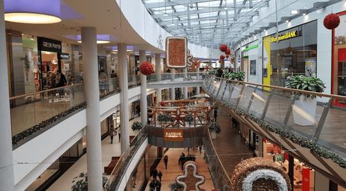 布達佩斯購物中心-Allee Mall 內部空間
