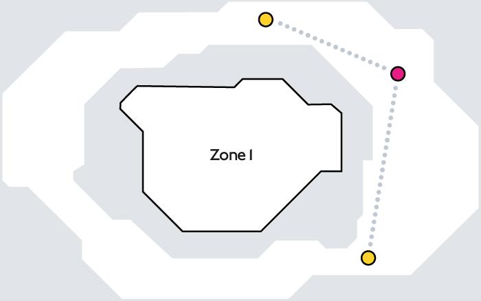 粉紅色感應器pink card reader zone,第一區以外或轉乘火車才會看到。