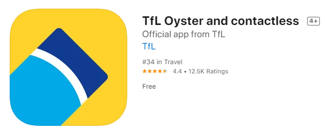 TfL Oyster and contactless app可以儲值、退卡,隨時查詢餘額。