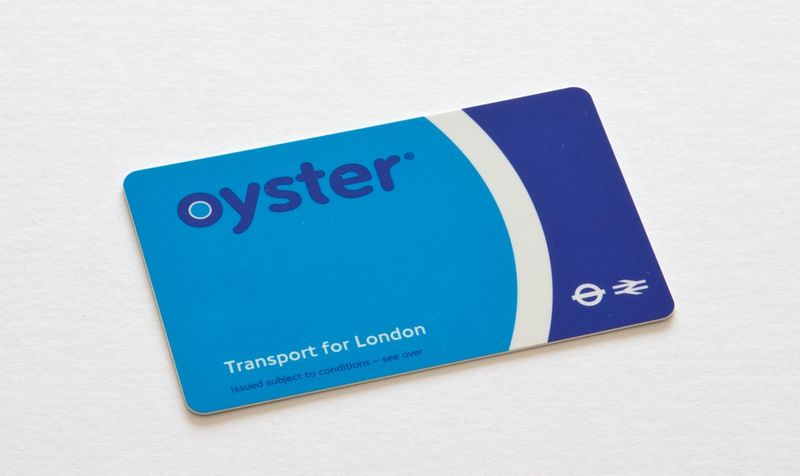 英國倫敦幣買的Oyster Card(牡蠣卡)
