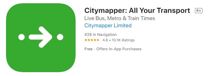 來到倫敦一定要下載的交通App-Citymapper