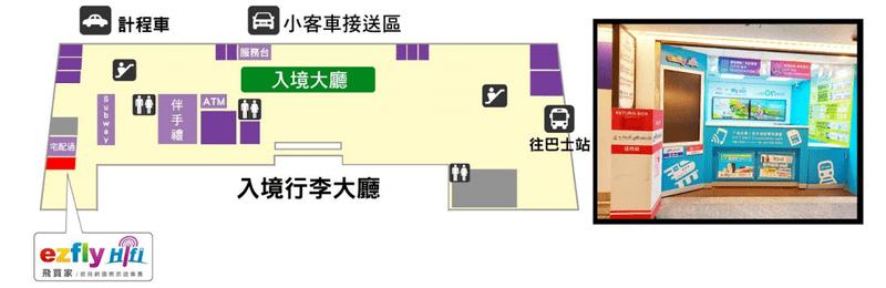 Global WiFi機場據點:桃園機場第一航廈:1樓入境大廳