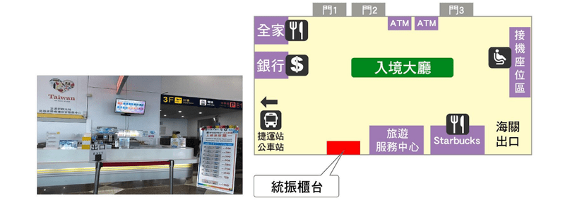 Global WiFi機場據點:高雄小港機場:1樓入境大廳 (統振櫃台)