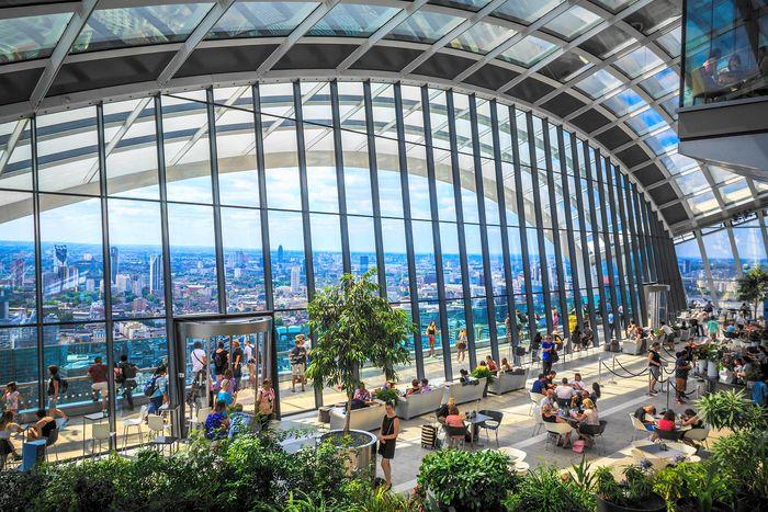 倫敦免費看風景好去處-Sky Garden空中花園,記得事先預約。