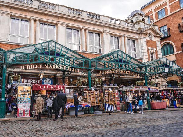 柯芬園(Covent Garden)內其中一個Jubilee Market.