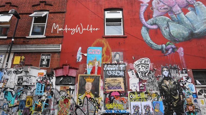 東倫敦的紅磚巷(Brick Lane),很有獨立風格與街頭塗鴉文化。