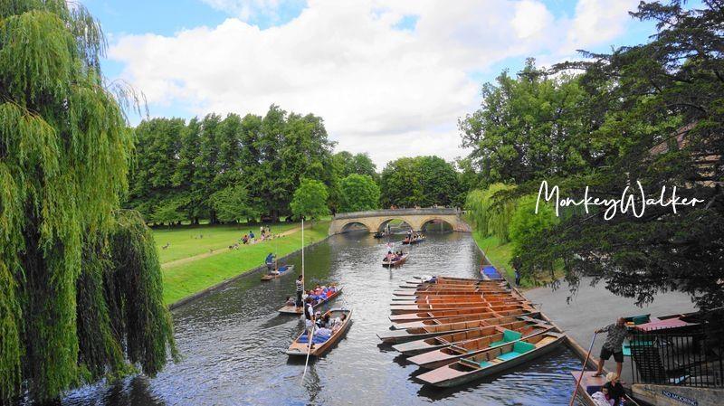 倫敦近郊景點-劍橋(Cambridge),特別的活動體驗-康河上撐篙(Punting)