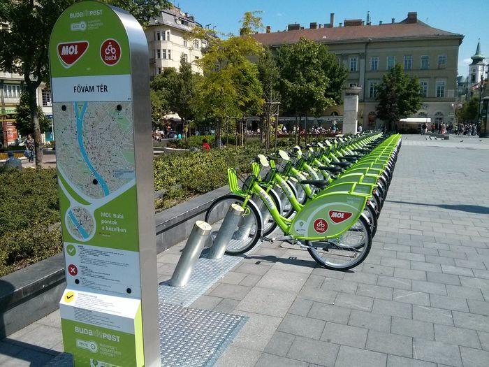 布達佩斯版You Bike當地MOL Bubi 共享腳踏車。