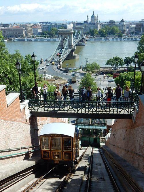 布達城堡山纜車(Buda Castle funicular),當地獨特的交通之一。